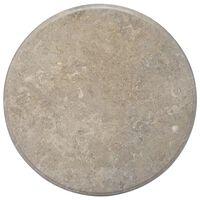 vidaXL Плот за маса, сив, Ø70x2,5 см, мрамор