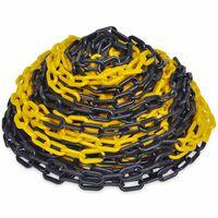 30 m Пластмасова предупредителна верига, жълто и черно