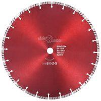 vidaXL Диамантен режещ диск, турбо, стомана, 350 мм