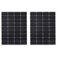 vidaXL Соларни панели 2 бр 100 W монокристален алуминий защитно стъкло
