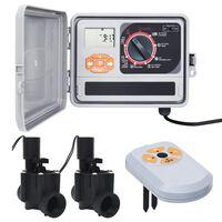 vidaXL Програматор за поливане със сензор за влага и соленоиден клапан