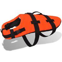 vidaXL Спасителна жилетка за кучета, размер M, оранжева
