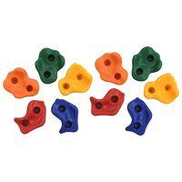 vidaXL Камъни за катерене, 10 бр, многоцветен PE