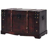 vidaXL Винтидж сандък, дървен, 66x38x40 см