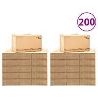 vidaXL Картонени кутии за преместване, XXL, 200 бр, 60x33x34 см