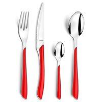 Amefa Комплект прибори за хранене Eclat 24 бр червен
