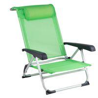Bo-Camp Плажен стол, алуминий, зелен, 1204794