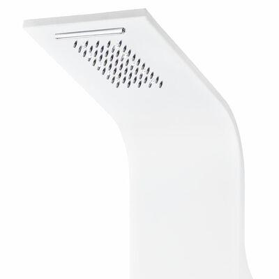 vidaXL Душ панел, алуминий, 20x44x130 см, бял