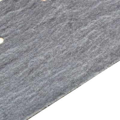 vidaXL Кухненско килимче, перимо, люта чушка, 45x150 см