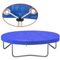 vidaXL Покривало за батут, PE, 450-457 см, 90 гр/м²
