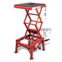 vidaXL Подемник за мотори, 150 кг, червен