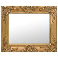 vidaXL Стенно огледало, бароков стил, 50х40 см, златисто