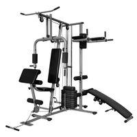 vidaXL Мултифункционален домашен фитнес 65 кг