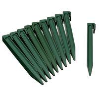 Nature Градински клинове за фиксиране, 10 бр, зелени