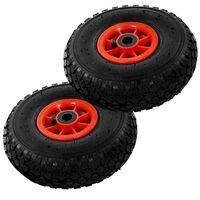 vidaXL Колела за транспортна количка 2 бр каучук 3,00-4 (260x85)