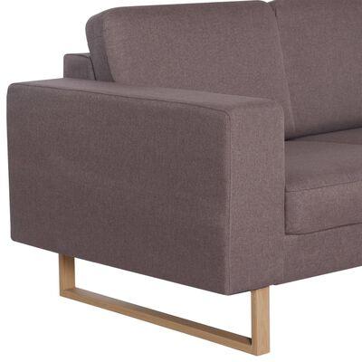 vidaXL 2-местен диван, текстил, таупе