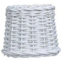 vidaXL Абажур, плетена ракита, 20x15 см, бял