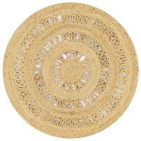 vidaXL Ръчно плетен килим от юта, 90 см
