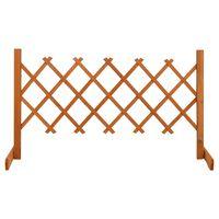 vidaXL Градинска оградна решетка, оранжева, 120x60 см, чам масив