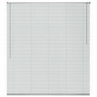 vidaXL Алуминиева щора за прозорец, 80x220 см, сребриста