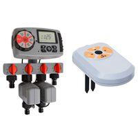 vidaXL Автоматичен таймер с 4 изхода и сензор за влага 3 V