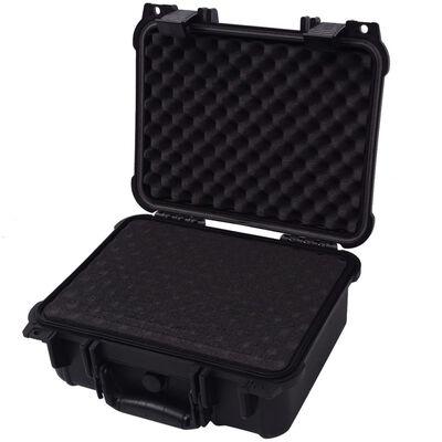 vidaXL Защитен куфар за оборудване, 35x29,5x15 cм, черен