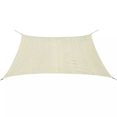 vidaXL Слънцезащитно платно, HDPE, квадратно, 3.6x3.6 м, кремаво