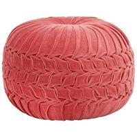 vidaXL Пуф, памучно кадифе, дизайн с набори, 40х30 см, розов