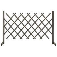 vidaXL Градинска оградна решетка, сива, 120x90 см, чам масив