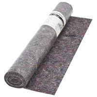 vidaXL Неплъзгащо се бояджийско покривало, 50 м, 180 г/м², сиво