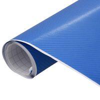 vidaXL Фолио за кола матово 4D синьо 200x152 см