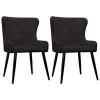 vidaXL Трапезни столове, 2 бр, черни, кадифе
