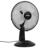 vidaXL Настолен вентилатор, 3 скорости, 30 см, 40 W, черен