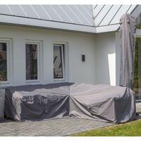 Madison Покривало за градински мебели, 235x235x70 см, сиво