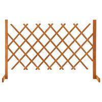 vidaXL Градинска оградна решетка, оранжева, 120x90 см, чам масив