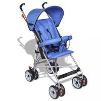 Лятна лека бебешка количка с модерен дизайн, синя