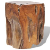 vidaXL Табуретка, тиково дърво масив