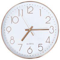 vidaXL Стенен часовник, 30 см, розово-златисто