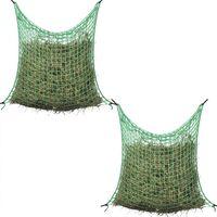 vidaXL Мрежа за сено, 2 бр, квадратна, 0,9x1,5 м, PP