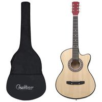 """vidaXL Комплект уестърн акустична китара, 12 части, 6 струни, 38"""""""