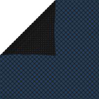 vidaXL Плаващо соларно покривало за басейн PE 549x274 см черно и синьо