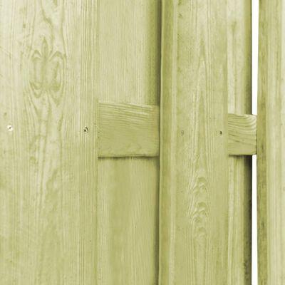 vidaXL Ограден панел, борова дървесина, 180x180 см, зелен