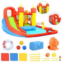 Happy Hop Надуваем батут с пързалка и басейн, 410x385x220 см, PVC