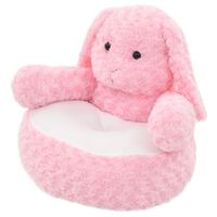 vidaXL Плюшена играчка заек, плюш, розова