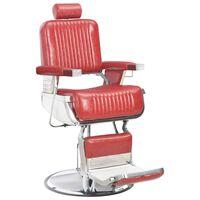 vidaXL Фризьорски стол, червен, 68x69x116 см, изкуствена кожа