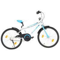 vidaXL Детски велосипед, 20 цола, синьо и бяло