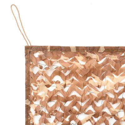 vidaXL Камуфлажна мрежа с чанта за съхранение, 1,5х4 м