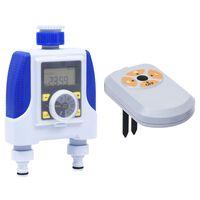 vidaXL Електронен таймер с двоен извод и сензор за влага