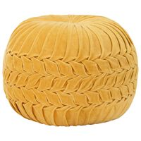 vidaXL Пуф, памучно кадифе, дизайн с набори, 40х30 см, жълт