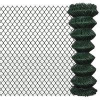 vidaXL Плетена оградна мрежа, стомана, 1,25x25 м
